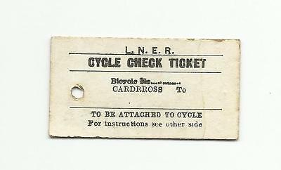 LNER ticket, cycle check ticket, Cardross