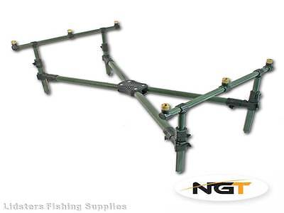 New fully adjustable NGT Cross Short Fishing Pod with deluxe case For 3 Rods