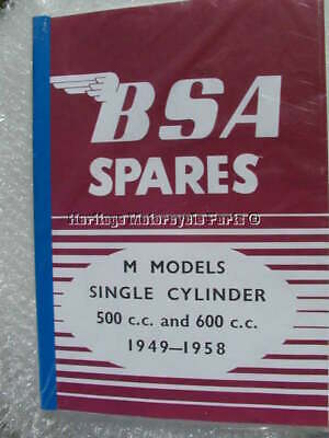 new SPARE PARTS BOOK-BSA M MODELS-M20 M21 M33  rigid and plunger 1949-58
