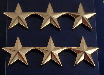 "Police Chief /Deputy 3 stars 1"" Silver Pair Shoulder Pins Rank Insignia 4472N"