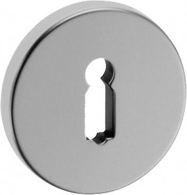 Aluminium BB Rosette Cylinder escutcheon F2 new silver-coloured anodised Key
