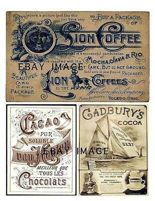 Primitive Coffee, Chocolate and Cocoa  Labels         FH499