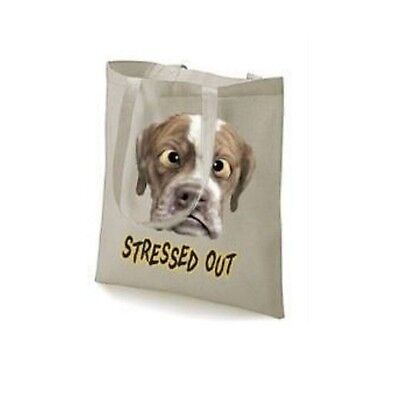 Stressed Out Dog Funny Humorous Design Tote Bag