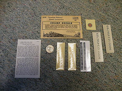 Champ  decals O E-116 Canadian National diesel locomotive   N95