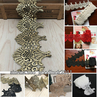 1 Yard Polyester Lace Trim Ribbon Embroidered Trimming DIY Sewing Craft FL89