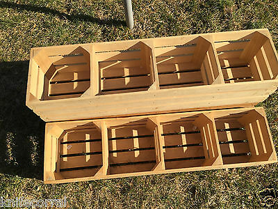 Display Wood Square Crates.  Used      Pick Up Only!