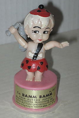 1960's Bamm Bamm Push Puppet by Kohner Bros Loose Club