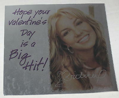 """2000 Britney Spears Valentine Card """"Hope Your Valentine's Day Is A Big Hit"""" #5"""