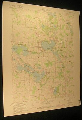 North Webster Indiana Yellowbanks 1982 vintage USGS original Topo chart map