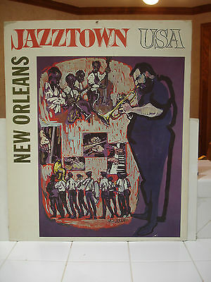Rare Jazz Poster by Jack Cooley - New Orleans - Jazztown USA