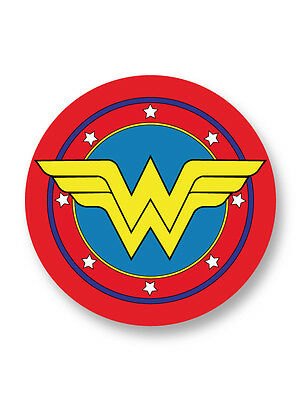 "Pin Button Badge Ø25mm 1"" Logo Wonder Woman DC Comics Justice League Heroes"