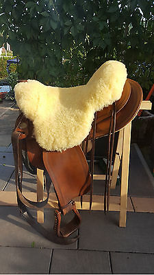 Lambskin overlay for western saddles, new,natural tanning 2.3x2.3 ft