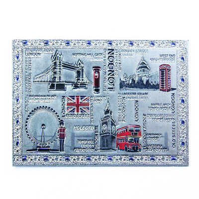 London Collage 8 Motive Laser Metall Magnet Souvenir England,Great Britain