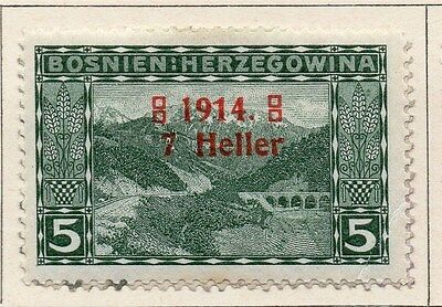 Bosnia Herzegovina 1914 Early Issue Fine Mint Hinged 7h. Surcharged 047130