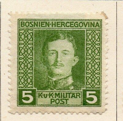 Bosnia Herzegovina 1917 Early Issue Fine Mint Hinged 5h. 047167