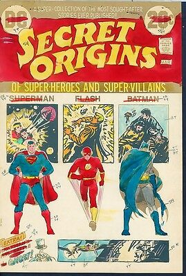 Secret Origins 1 COVER ART Superman Flash Batman Hand Painted Cardy Color Guide