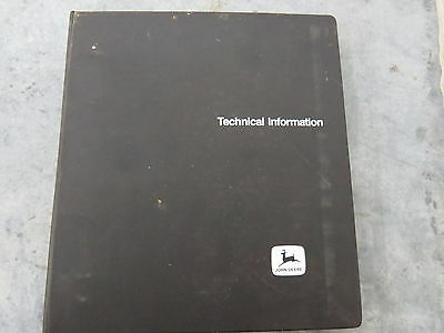 John Deere 60 & 70 Skid Steer Loader Technical Service Manuals Lot of 2 inbinder