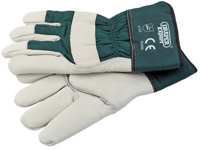 Draper Expert Premium Quality Heavy Duty Mens Leather Gardening Gloves X Large