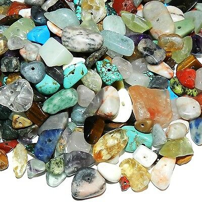 GCL9912 Assorted Gemstone Large (8-25mm) Nugget Chip Mix Beads 8-ounce Package