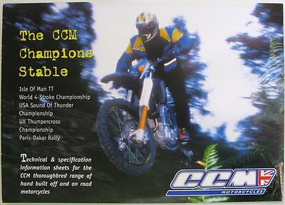 CCM Motorcycles Champions Stable - Motorcycle Sales Brochure - 1990s/2000s