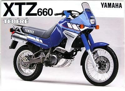 YAMAHA XTZ660 Tenere - Motorcycle Sales Spec Sheet - 1991 -#LIT-3MC-0107022-91E