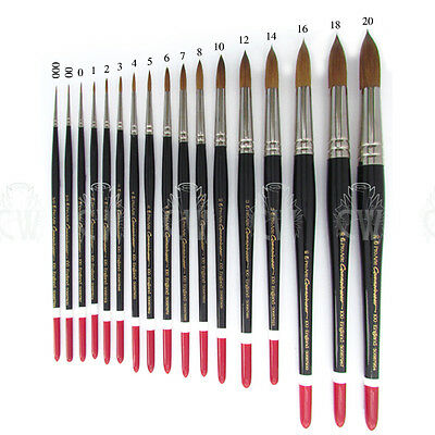 Pro Arte Connoisseur Round Brushes Series 100. Artists Watercolour Sable Brush.
