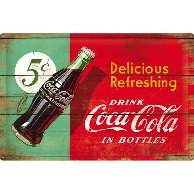 Blechschild Coca Cola Refreshing,Nostalgie Schild 60 cm ! ! !,NEU,Metal shield