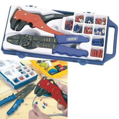 Draper 33079 Electricians Crimping Tool & Wire Stripper Kit Crimper/Terminal Set