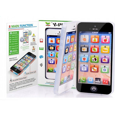 YPhone 1:1 Iphone Toy Mobile Phone English Educational Gift for Kids Children