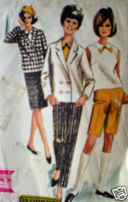 7209 Vintage McCalls SEWING Pattern Misses Jacket Top Skirt Pants Shorts