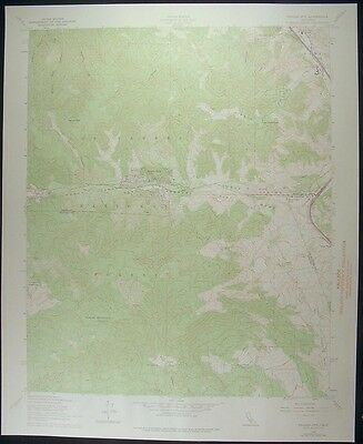 Frazier Mountain California Castac 1975 vintage USGS original Topo chart map