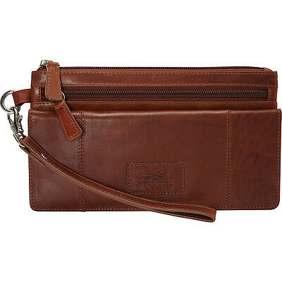 Mancini Leather Goods Ladies' RFID Wristlet 3 Colors Women's Wallet NEW