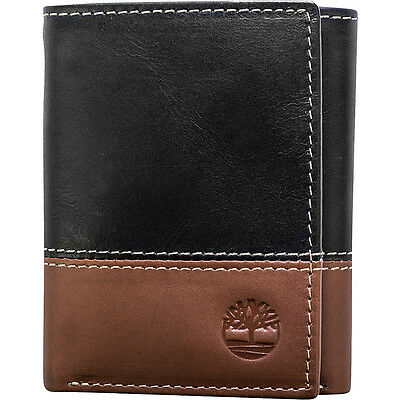 Timberland Wallets Hunter Two-Tone Trifold Wallet Men's Wallet NEW