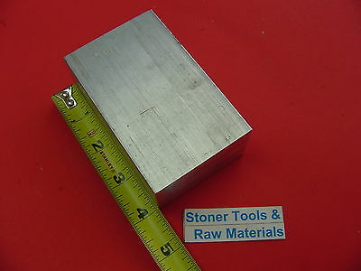 "1-1/2"" X 2-1/2"" ALUMINUM 6061 FLAT BAR 4"" long T6511 New Solid Mill Stock"