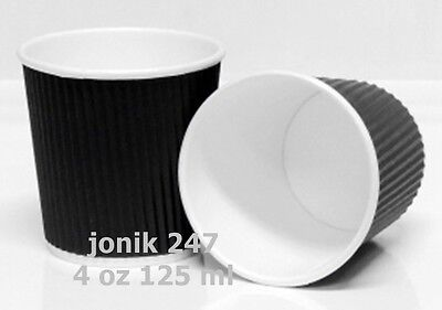 100 pieces 4 oz ripple double wall paper Coffee cups / shortblack 120ml