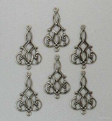 #1115 ANTIQUED GOLD CELTIC 2 RING CONNECTOR - 6 Pc Lot