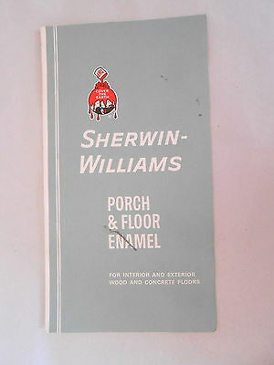 1930s Sherwin Williams Porch & Floor Ename Paint Color Chip Advertising Brochure