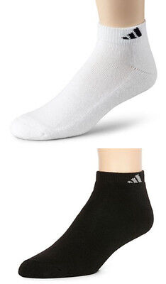 Adidas 6-Pair Men's Cushioned Socks Low Cut Color White for Shoe Size 6~12