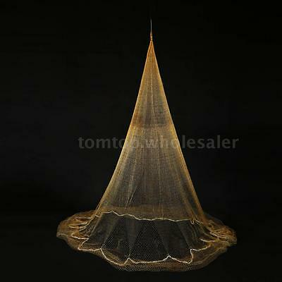 3.2 * 2m Nylon Monofilament Fish Gill Net Fish Net for Hand Casting Strong T6S2