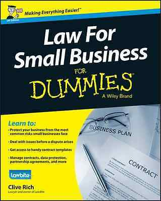 Law for Small Business For Dummies - Paperback NEW Clive Rich (Aut 2016-02-12