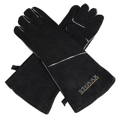 Stovax Extra Long Heat Resistant Leather Stove Gloves