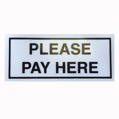PLEASE PAY HERE - Taxi Sticker - For All Taxis With A Drivers Partition ....