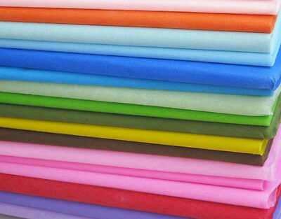 45 Sheets of Acid Free Tissue Paper White Black Colorful Wrapping Gift 500X500mm