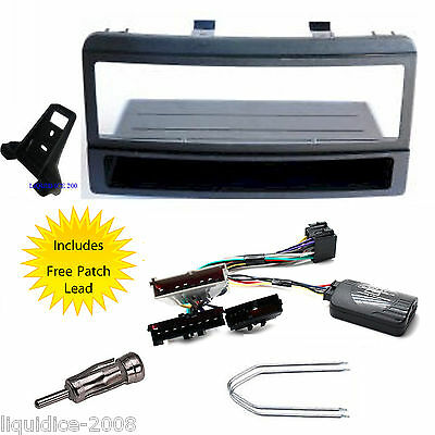 Ford Focus 1998 - 2004 Single Din Fitting Kit Stalk Adapter & Free Patch Lead