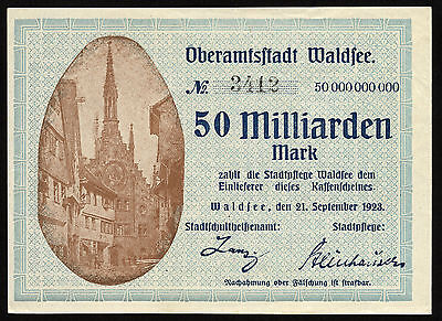 WALDSEE 50 Milliarden Mark 1923 (1-)
