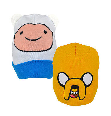 Official ADVENTURE TIME Roll Down HATS (Junior) Finn/Jake (Wooly/Beanie) Cartoon