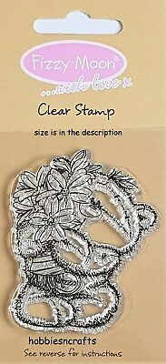 Dovecraft Fizzy Moon Small Clear Cling Stamps - Fzcs002 - Flower Bunch