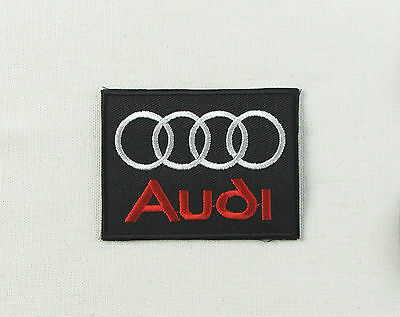 AUDI Motorsport BLACK & RED Iron or sew on embroidered patch A1 A2 A3 A4 A5 A6