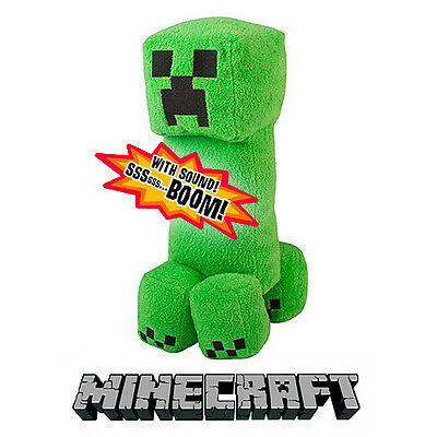 Stuff Toys Indoor Outdoor Kids Collection Minecraft Creeper Talking Plush Gift