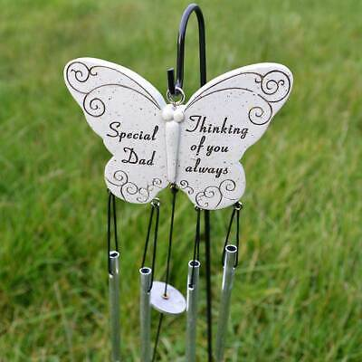 Special Dad Thinking of you Always Graveside Memorial Butterfly Wind Chime